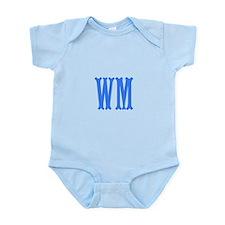 Custom Initials in Blue. Infant Bodysuit
