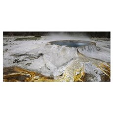 Punch Bowl Hot Pot Upper Geyser Basin Yellowstone  Poster