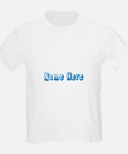 Custom Name Text in Blue. T-Shirt