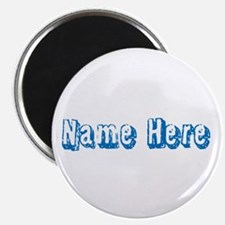 Custom Name Text in Blue. Magnet