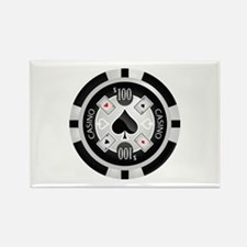 Casino Chip Rectangle Magnet
