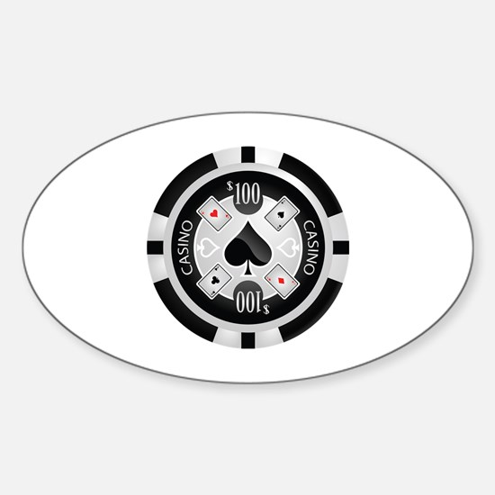 Casino Chip Sticker (Oval)