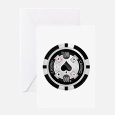 Casino Chip Greeting Card