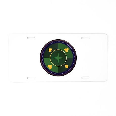 Casino Chip Aluminum License Plate