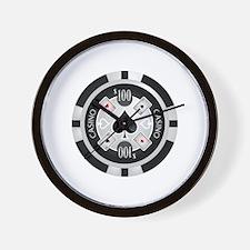 Casino Chip Wall Clock
