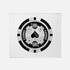 Casino Chip Throw Blanket