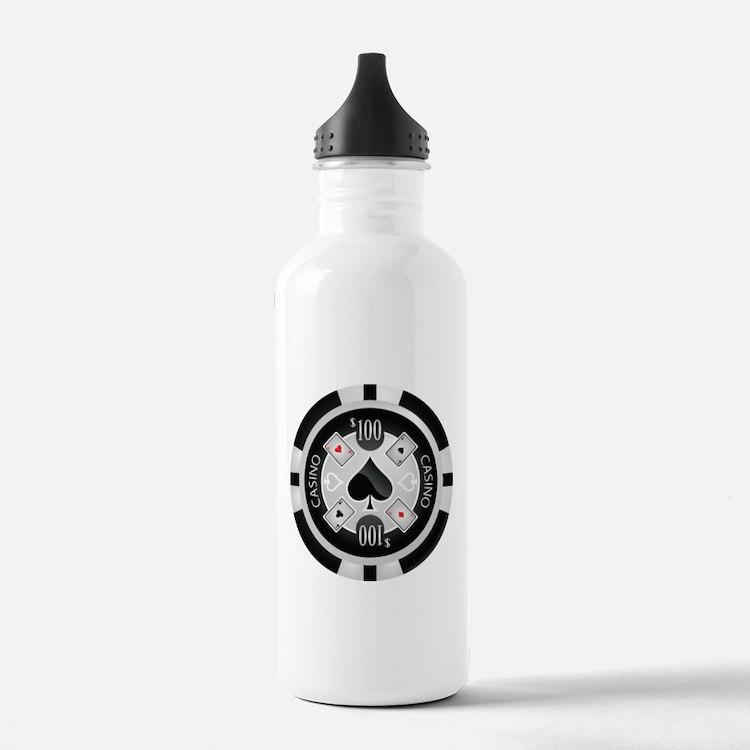 Casino Chip Water Bottle