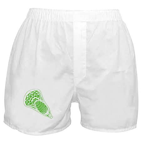 Lacrosse Crosse in Green. Boxer Shorts