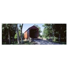 Frederick County Maryland Covered Bridge Canvas Art