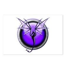 Purple Spirit Dragon Postcards (Package of 8)