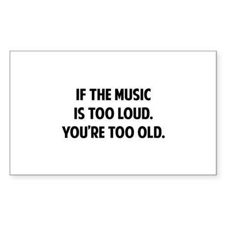 LOUD MUSIC Sticker (Rectangle)