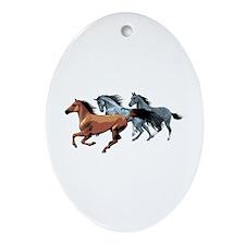 Horses Ornament (Oval)