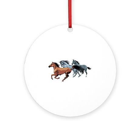 Horses Ornament (Round)