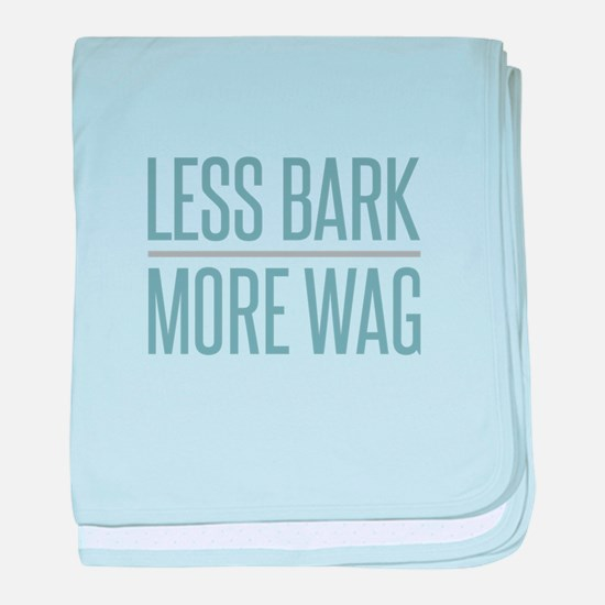 Less Bark More Wag baby blanket