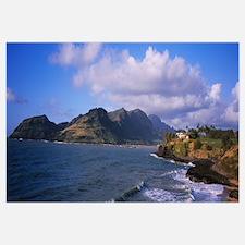 Mountains along the coast, Nawiliwili Harbor, Lihu