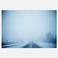 Blizzard over a highway, Highway 90, Buffalo, New