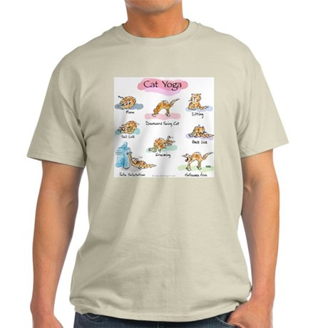 Cat YOGA POSES Ash Grey T-Shirt