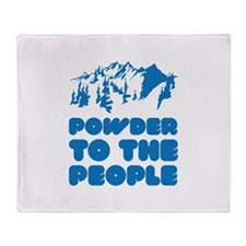 Powder To The People Throw Blanket