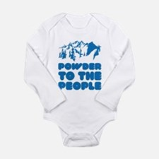 Powder To The People Long Sleeve Infant Bodysuit