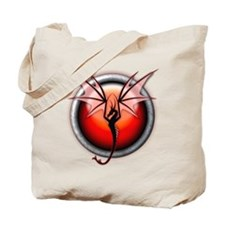 Red Fire Dragon Tote Bag