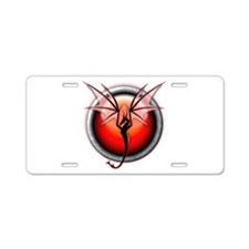 Red Fire Dragon Aluminum License Plate