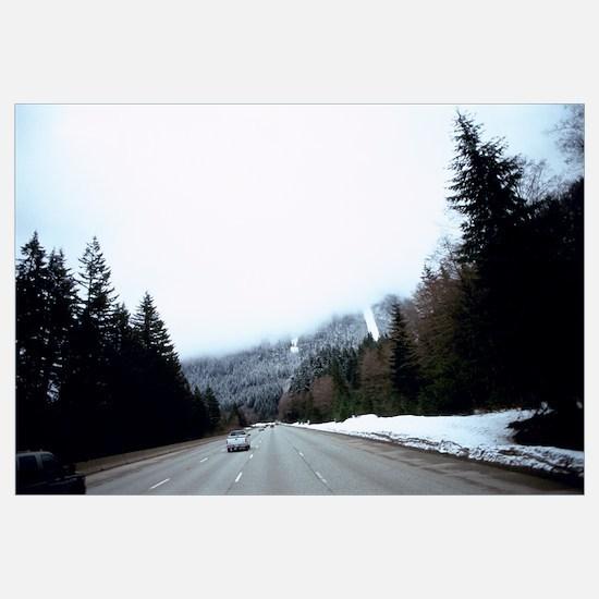 Cars on a highway, Interstate 90, Cascade Range, K