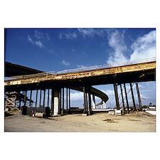 Overpass over an under construction bridge, Califo