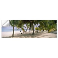 Sunning tourists on 7-Mile Beach, Negril, Jamaica Wall Decal