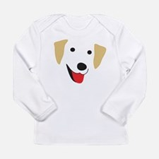 Yellow Lab's Face Long Sleeve Infant T-Shirt