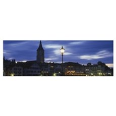 Buildings in a city, Zurich, Canton Of Zurich, Swi Poster