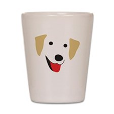 Yellow Lab's Face Shot Glass
