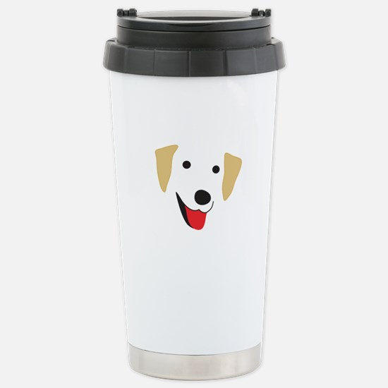 Yellow Lab's Face Stainless Steel Travel Mug