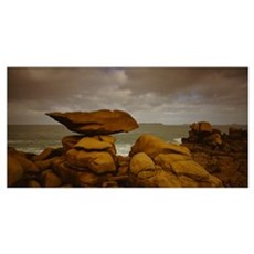 Clouds over the sea, Celtic Sea, Brittany, France Poster