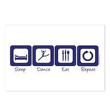 Sleep- Dance- Eat- Repeat Postcards (Package of 8)