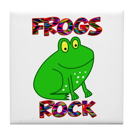 Frogs Rock Tile Coaster