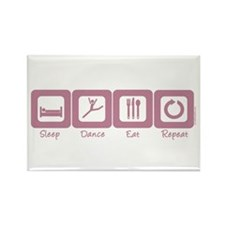 Sleep- Dance- Eat- Repeat Rectangle Magnet