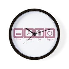 Sleep- Dance- Eat- Repeat Wall Clock