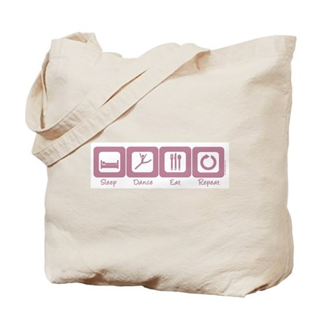 Sleep- Dance- Eat- Repeat Tote Bag