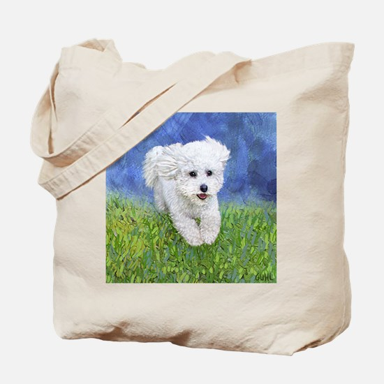 Unique Bichon frise Tote Bag