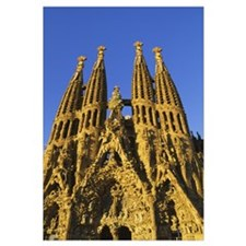 Low angle view of a cathedral, Sagrada Familia, Ba