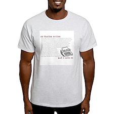 My Fandom Writes Ash Grey T-Shirt