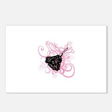 Feather duster, pink swirls. Postcards (Package of