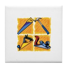 Carpenters Tools. Tile Coaster