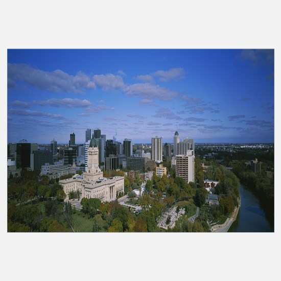 High angle view of a city, Winnipeg, Manitoba, Can