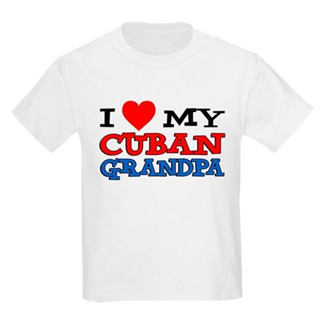 I Love My Cuban Grandpa Kids Light T-Shirt