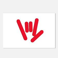 ASL Rocks: Red Postcards (Package of 8)