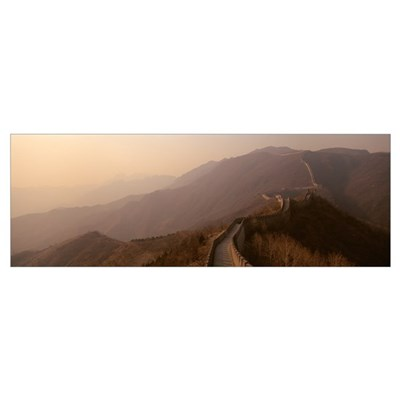 High angle view of the Great Wall Of China, Mutian Poster