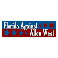 Florida Against Allen West bumper sticker