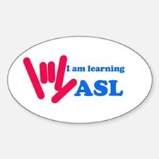 Learning ASL: Red and Blue Decal
