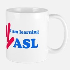 Learning ASL: Red and Blue Mug